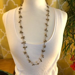 Smokey Quartz Teardrop Cluster Necklace